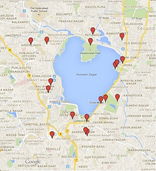 Locations of Hyderabad City Center 40 Skyscrapers