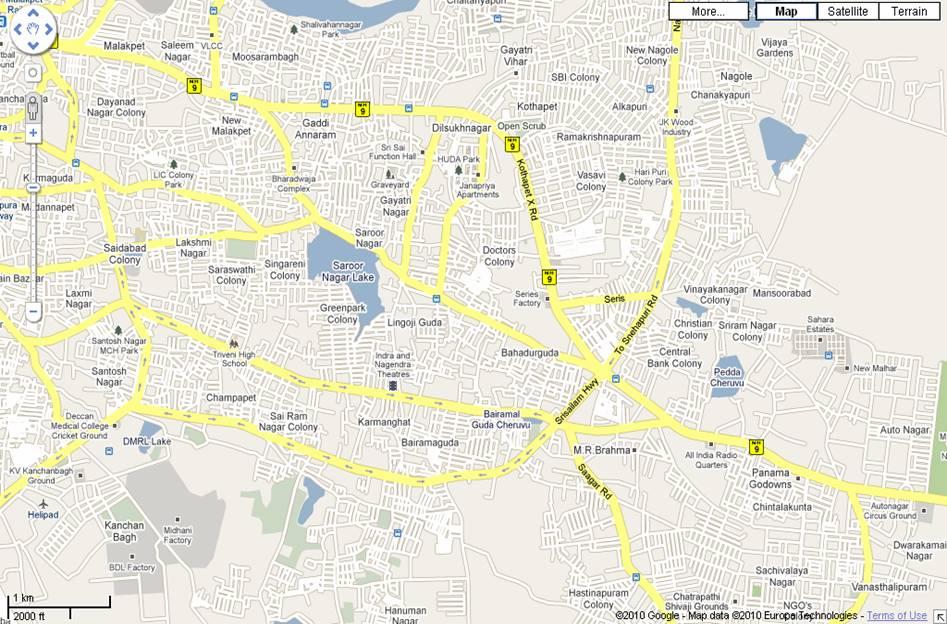 Dilsukhnagar – Suburb Map