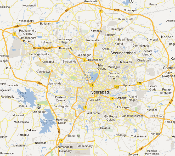 Hyderabad Map | Maps