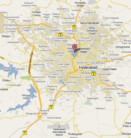 Hyderabad City Map