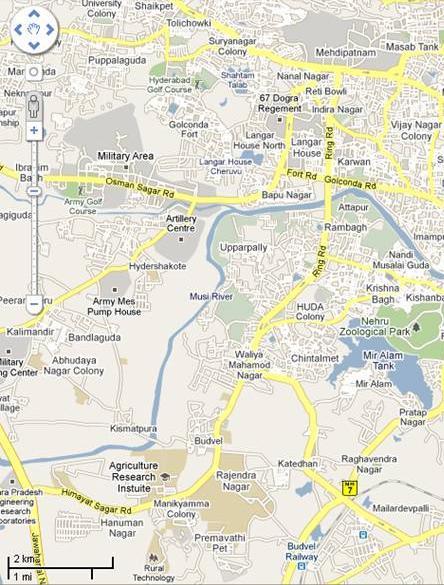 Mehdipatnam – Suburb Map
