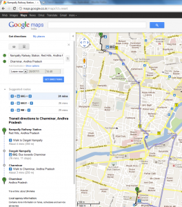 Details of Bus Services now Available on Google Transit, a New App from Google