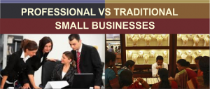 proffesional-vs-traditional small business