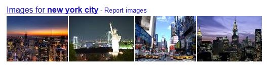 Google search results of 'New York City '- showing high-rise buildings