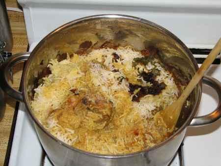 Preparing Authentic Hyderabadi Mutton Dum Biryani at Home