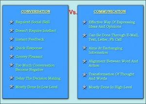 Conversation Vs Communication